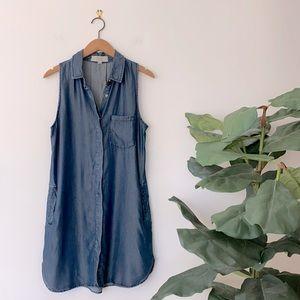 Thread + Supply Denim Chambray Tank Shirt Dress M